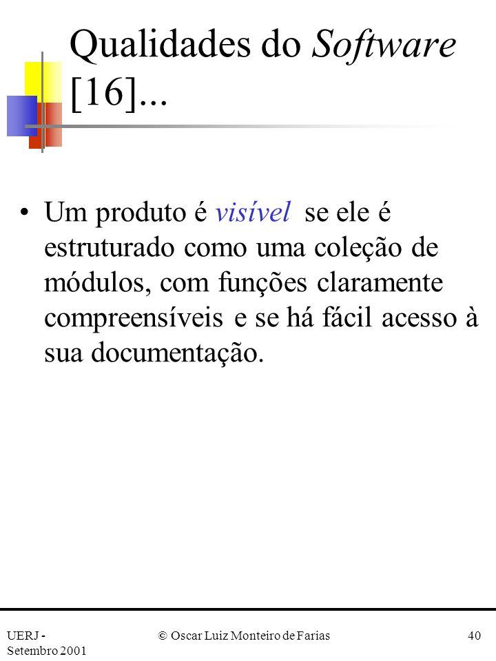 Qualidades do Software [16]...
